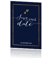 blauwe save the date chic